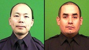 NYPD officers Wenjian Liu (left) and Rafael Ramos (right)