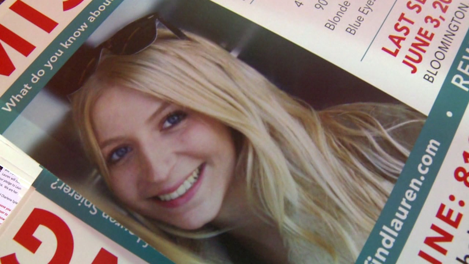 Missing IU student Lauren Spierer, who disappeared from Bloomington in 2011