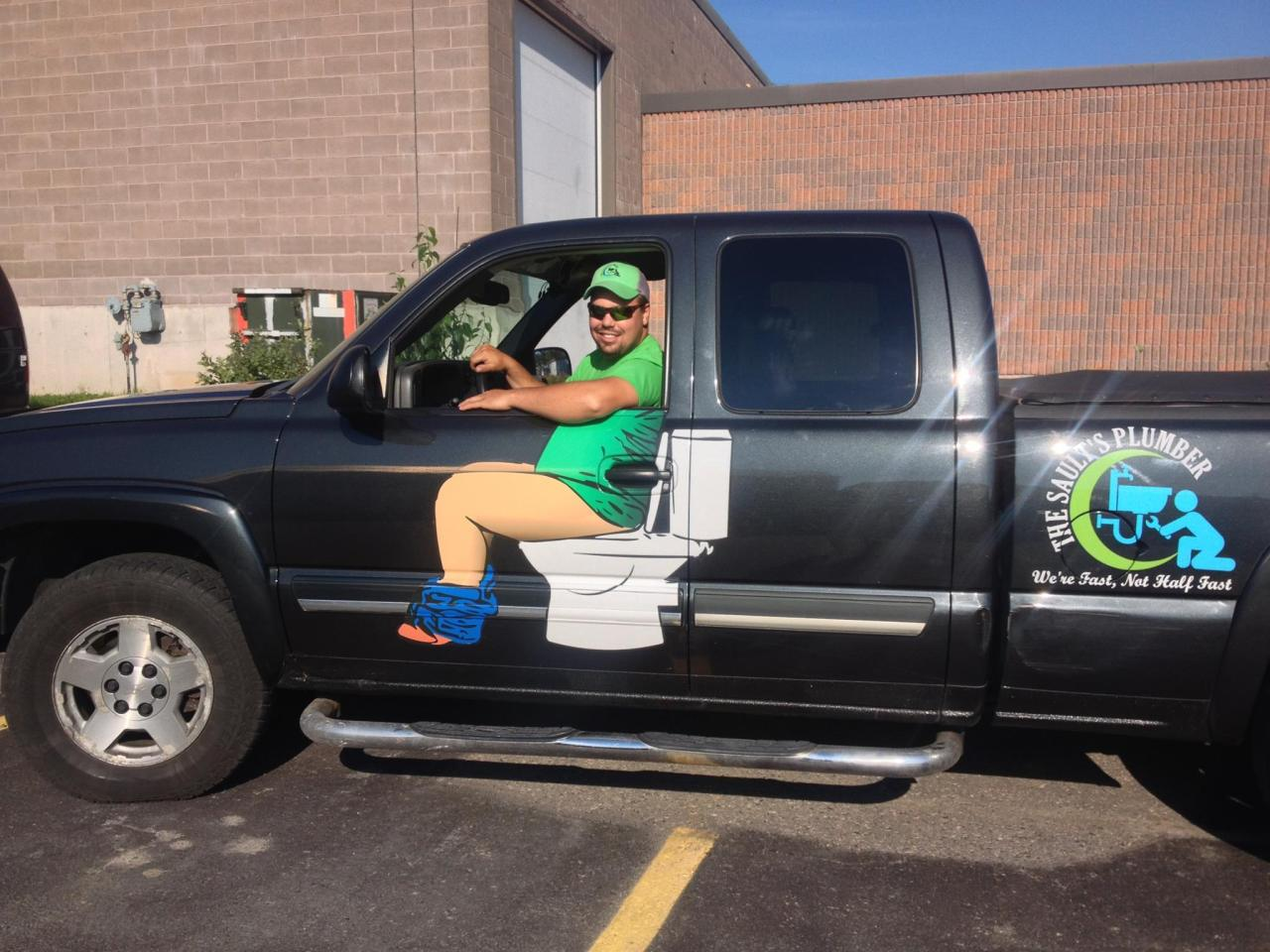 Pop A Squat Canadian Plumber S Attention Getting Truck Design Goes Viral Wttv Cbs4indy