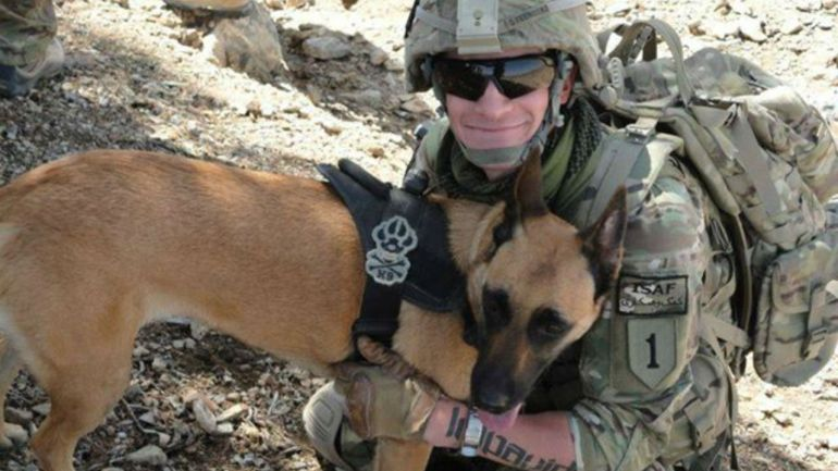 Finally Gets To Adopt Military Dog
