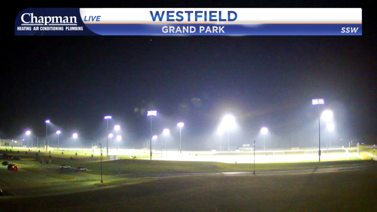Image from Grand Park Sports Complex at 6:45 p.m. Tuesday.