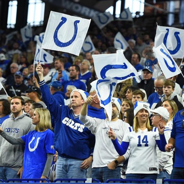 Colts fans at Lucas Oil Stadium