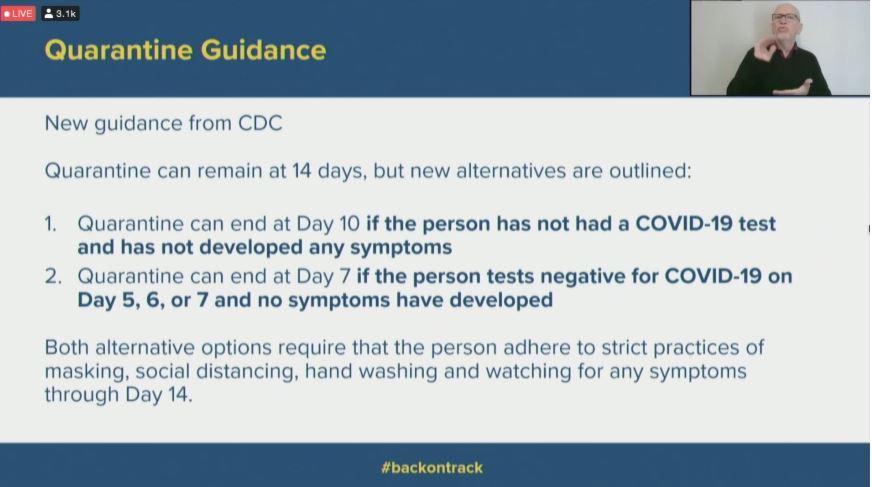 Understanding New Cdc Quarantine Guidance Fox 59