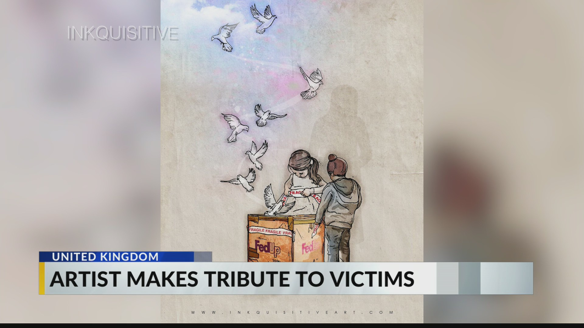 Artist creates tribute to Indianapolis FedEx shooting victims