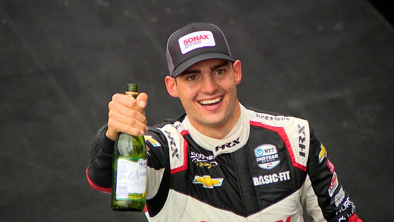 Ed Carpenter Racing S Rinus Veekay Wins Gp At Ims Wttv Cbs4indy
