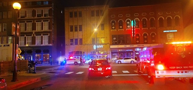 IMPD responds to over 100 shots fired in downtown Indianapolis early Sunday morning.