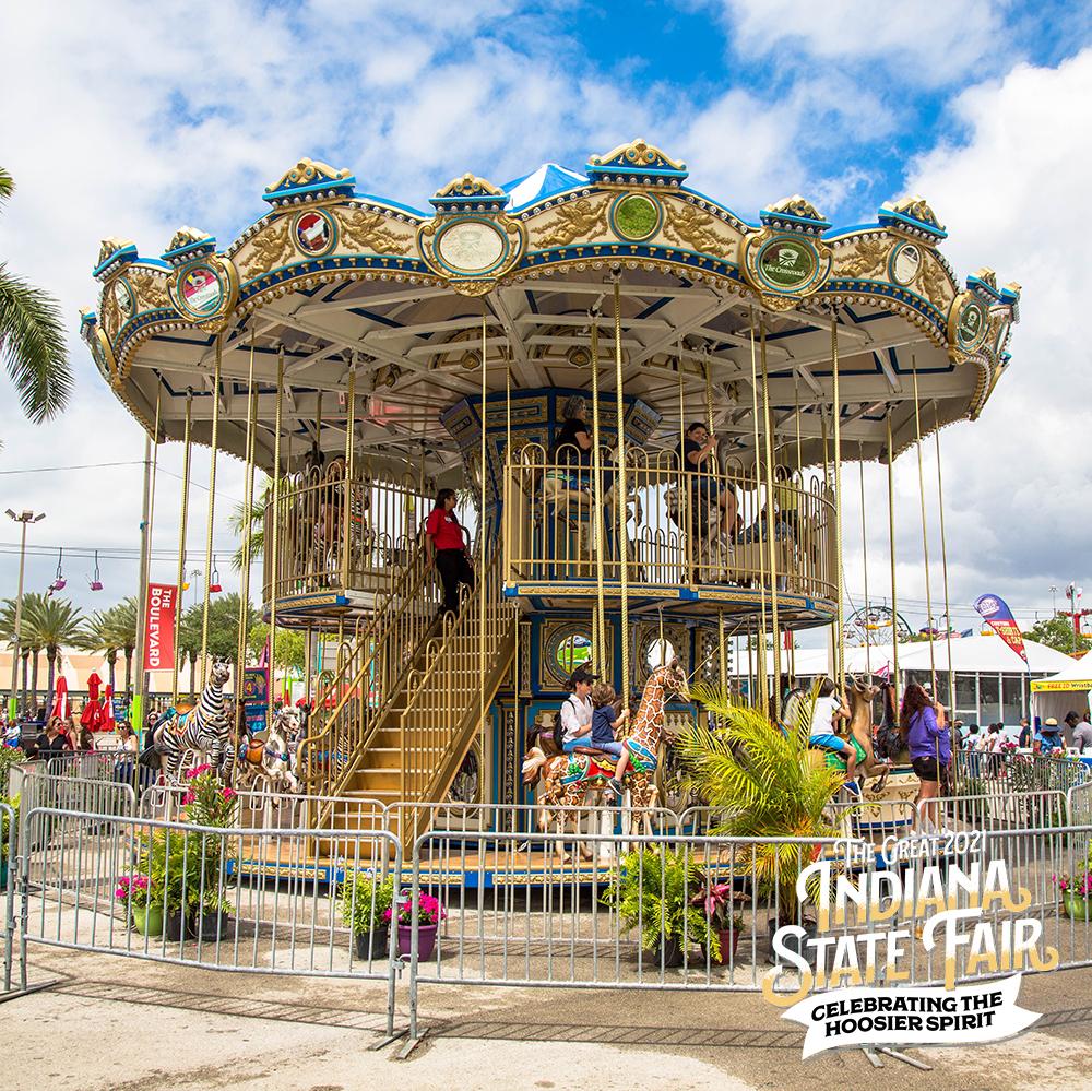 Indiana State Fair double decker carousel