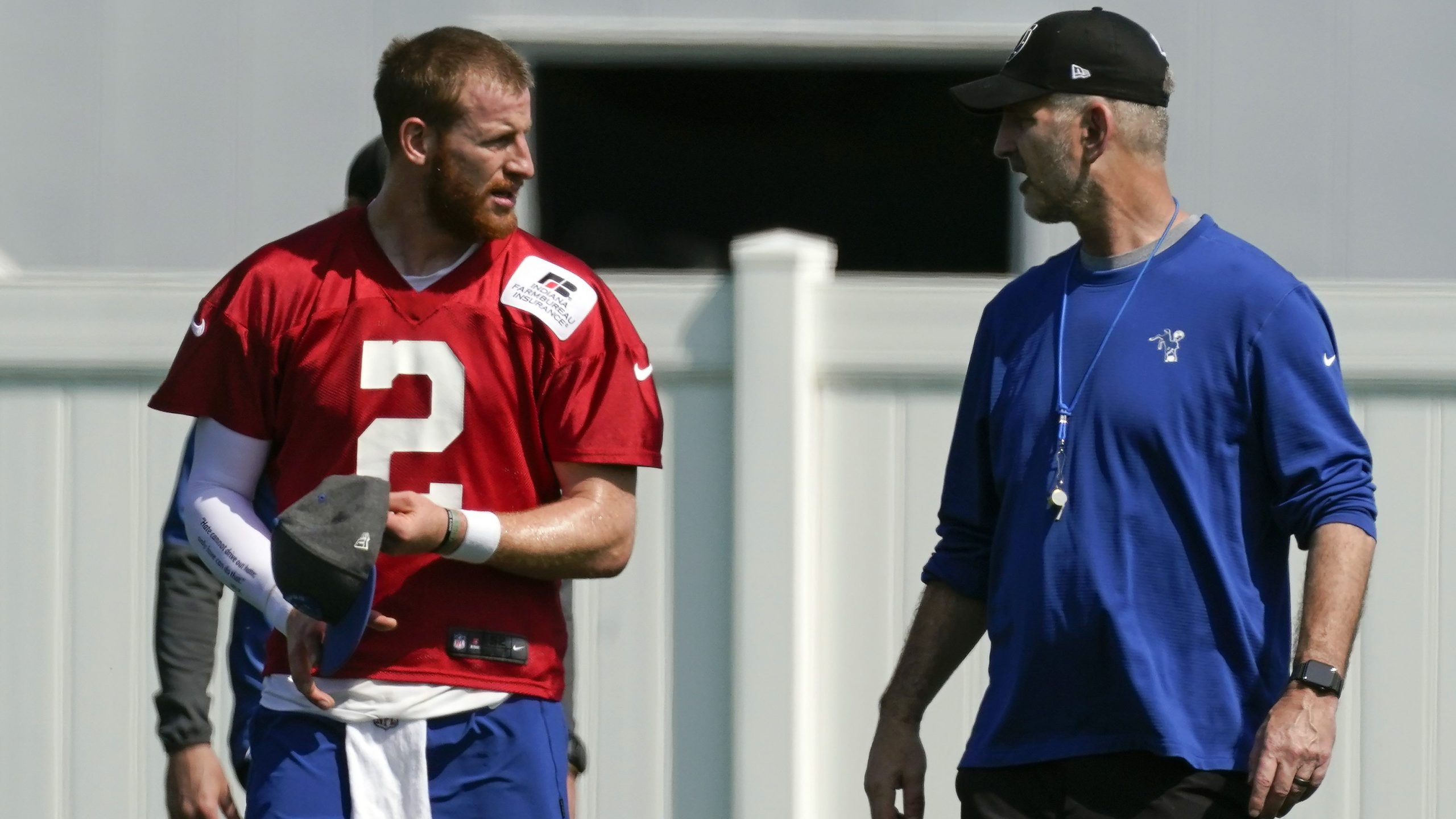 Indianapolis Colts QB Carson Wentz with Frank Reich
