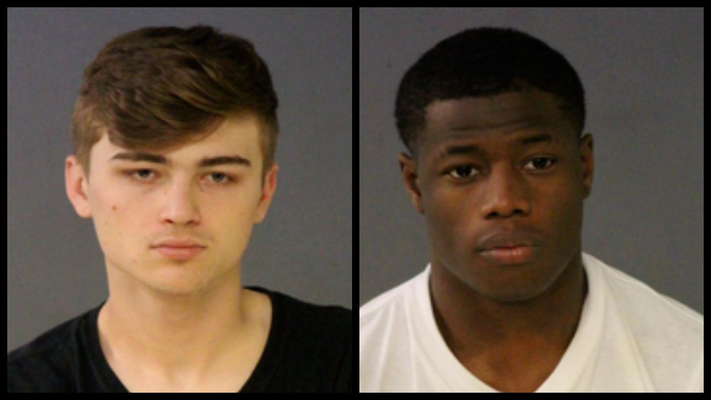 Police arrested 18 year old Chase Turner (left) and 19 year old Chordae Spearman (right) in connection with a shooting on the Interstate July 11