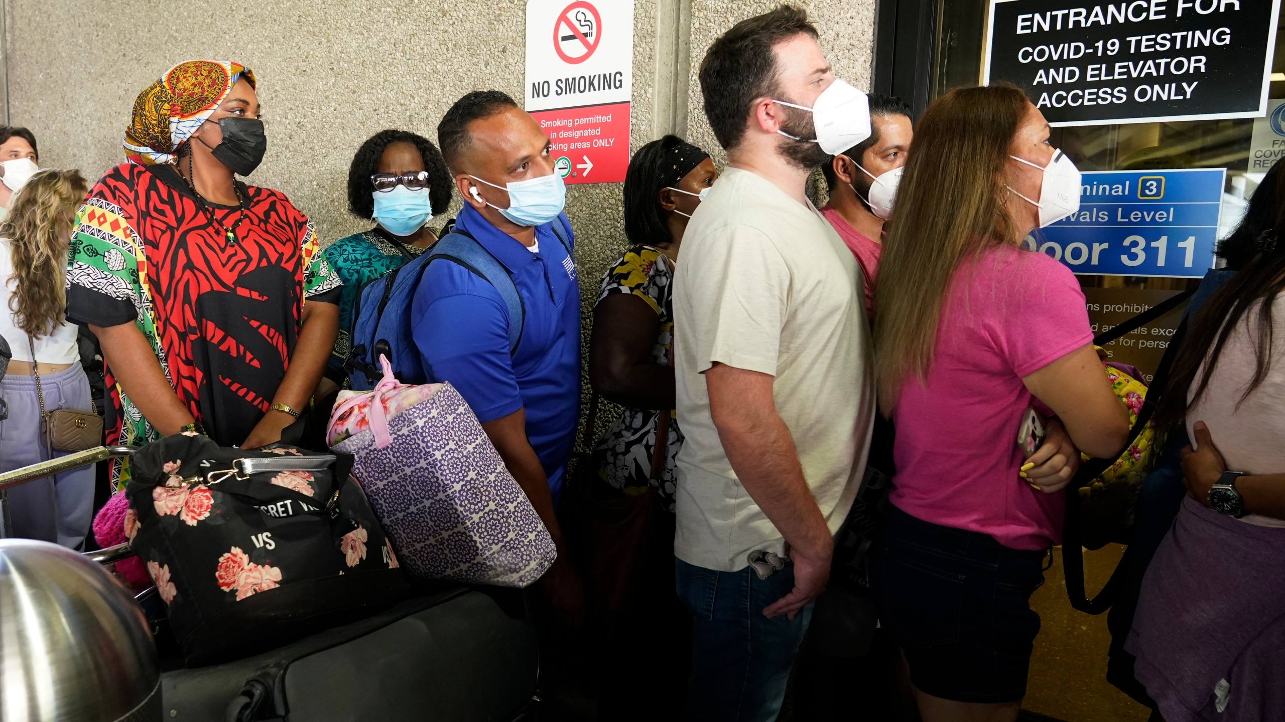 Recent flight cancelations caused many passengers to redo their tests while others were unable to get the test locally due to long lines caused by the surge of the Delta variant.