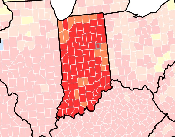 Indiana County Map 8-9