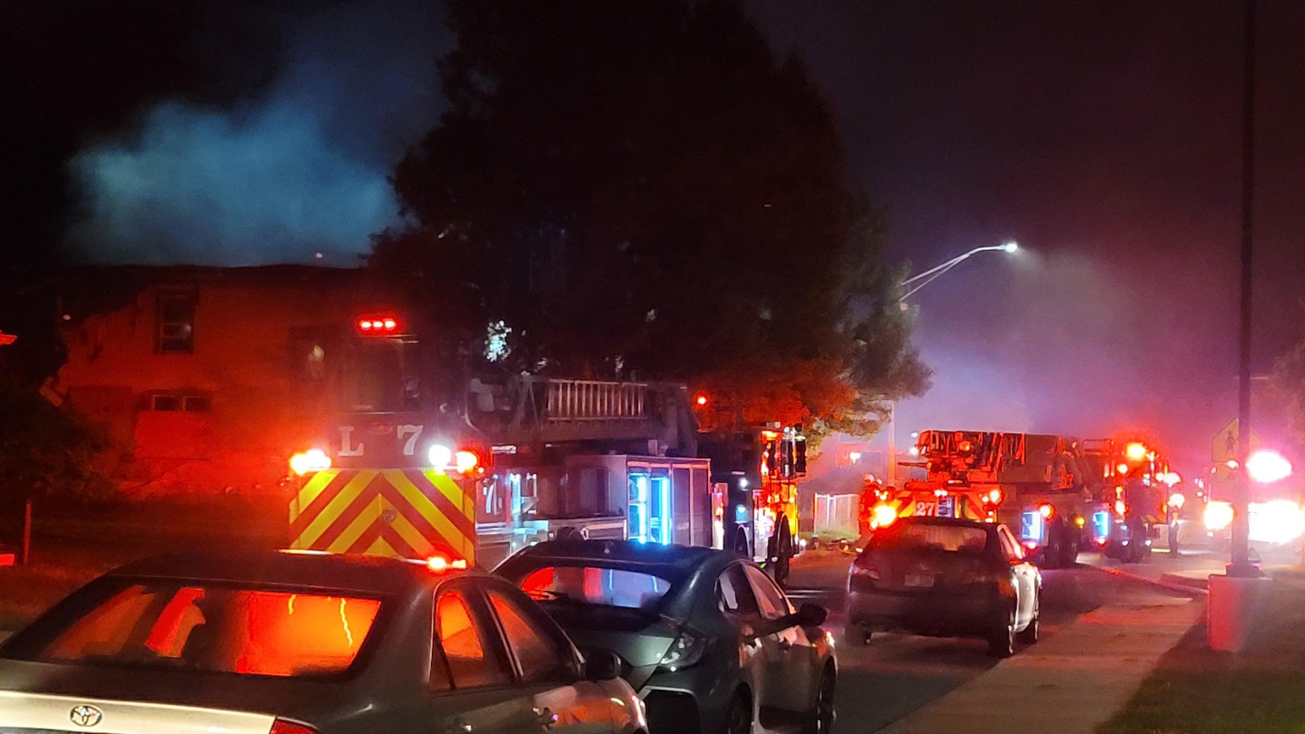 House fire on Keystone