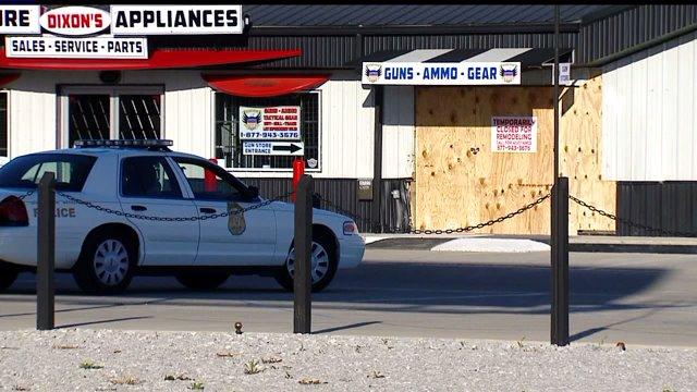 Jennings County gun store robbery